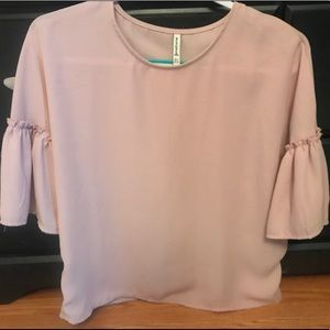 Ruffle 3/4 length Sleeve Blouse